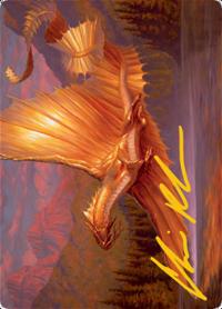 Adult Gold Dragon Card // Adult Gold Dragon Card image