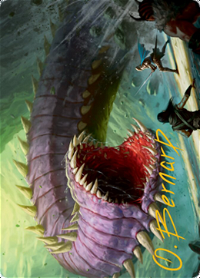 Purple Worm Card // Purple Worm Card image
