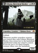Liliana, Heretical Healer // Liliana, Defiant Necromancer image