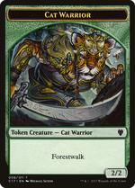 Cat Warrior Token image