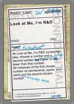 Look at Me, I'm R&D image