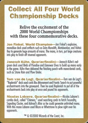 2000 World Championships Ad Card image