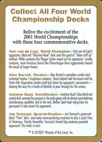 2001 World Championships Ad Card image