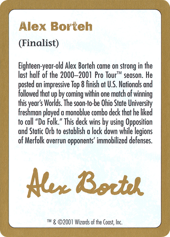 Alex Borteh Bio Card image