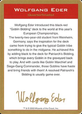 Wolfgang Eder Bio image