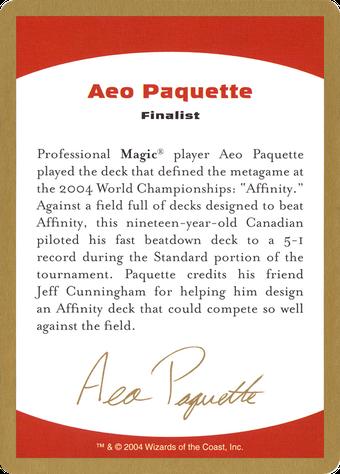 Aeo Paquette Bio image
