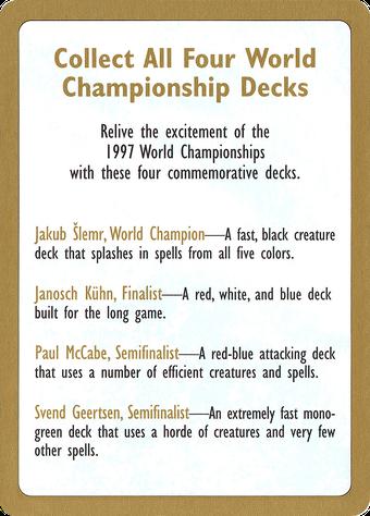 1997 World Championships Ad image
