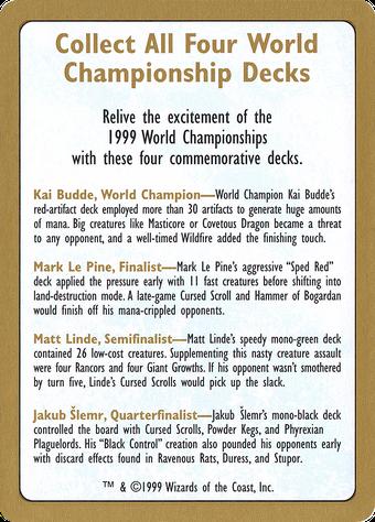 1999 World Championships Ad Card image