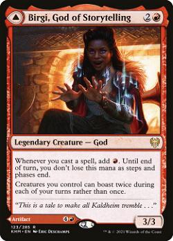 Birgi, God of Storytelling // Harnfel, Horn of Bounty image