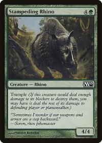 Stampeding Rhino image