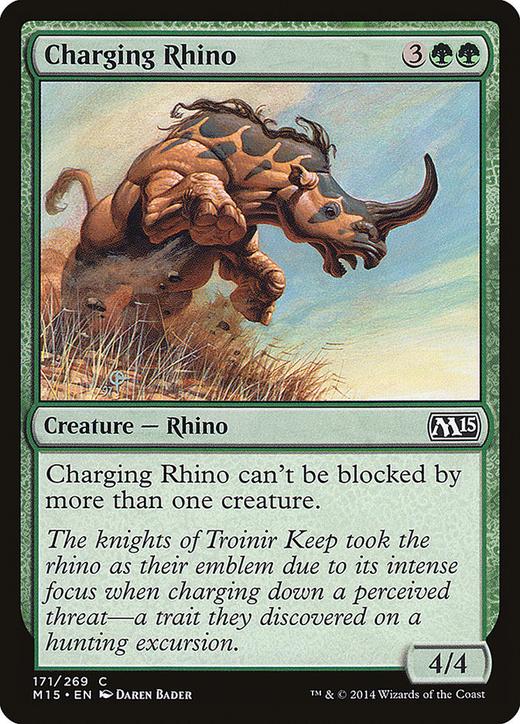 Charging Rhino image