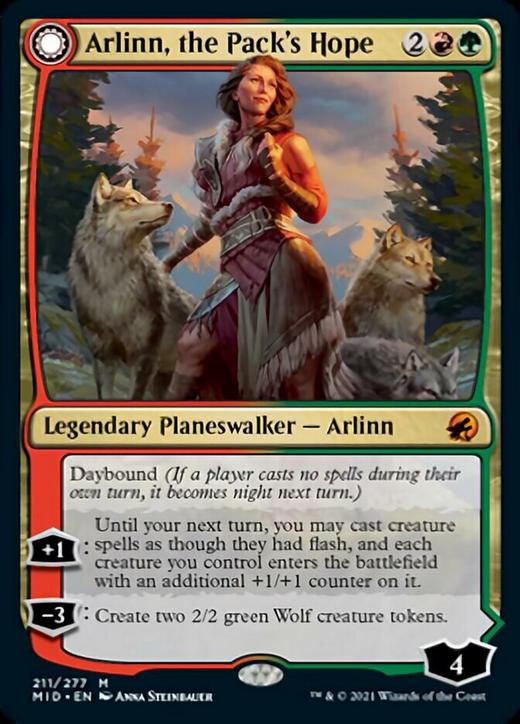 Arlinn, the Pack's Hope // Arlinn, the Moon's Fury image
