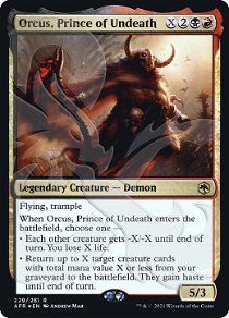 Orcus, Prince of Undeath