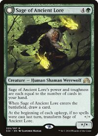 Sage of Ancient Lore // Werewolf of Ancient Hunger image