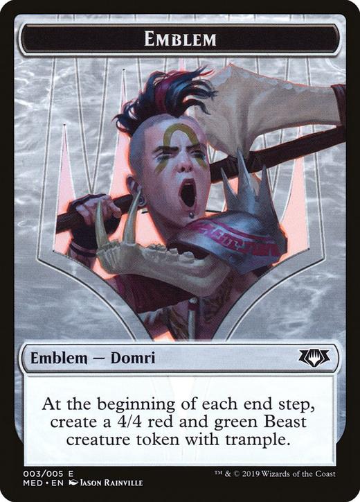 Domri, Chaos Bringer Emblem image