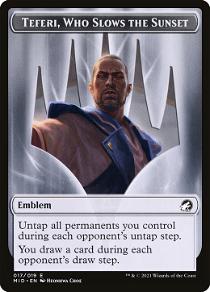 Teferi, Who Slows the Sunset Emblem image