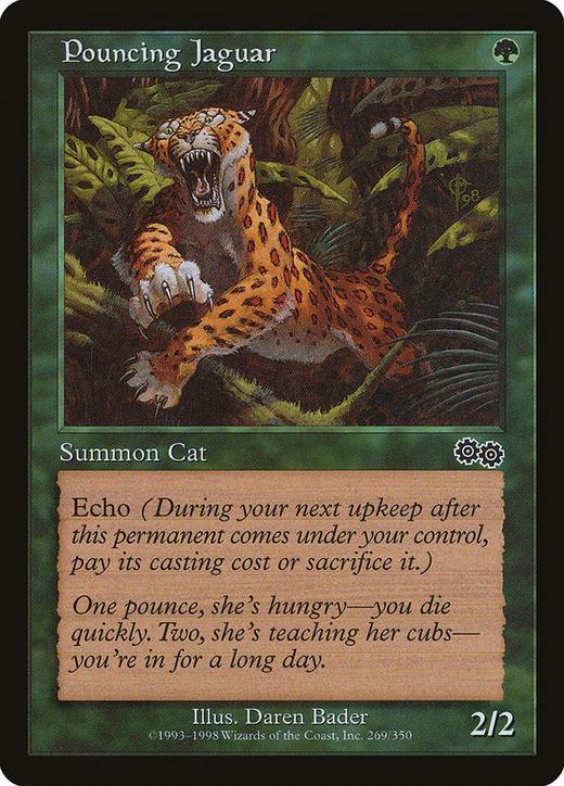 Pouncing Jaguar image