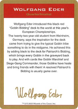 Wolfgang Eder Bio Card image