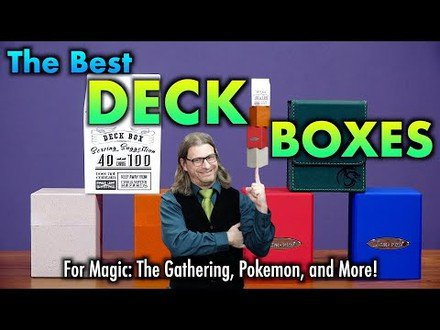 The Best Deck Boxes 36 - Ultimate Guard Return To Earth, Ultra Pro Cube, BCW Deck Case lx and more!