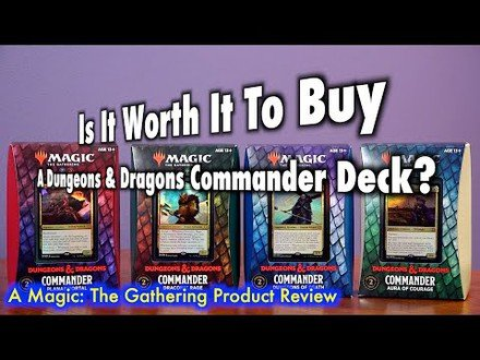 Is It Worth It To Buy A Dungeons & Dragons Commander Deck? | A Magic: The Gathering Product Review