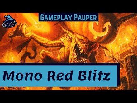 (GAMEPLAY PAUPER) Mono Red Blitz! Testando cartas novas