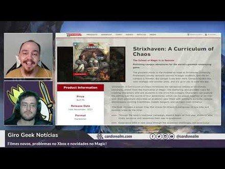 Novo Livro de D&D com Strixhaven   Giro Geek Notícias Ep. 005