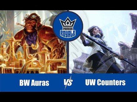 PIONEER   Decks: BW Auras VS UW Counters - Pioneer Royale 6.08