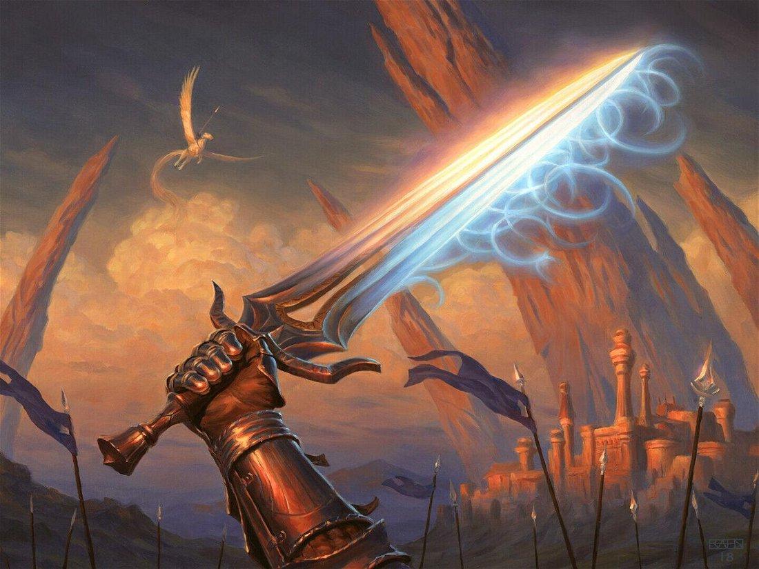 Artes de espadas de Modern Horizons são vendidas por um total de 62 mil reais