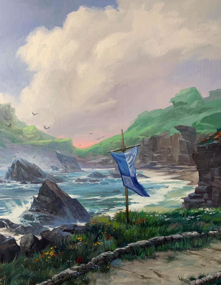 Arte de ilha de Throne of Eldraine é vendida por 28 mil reais