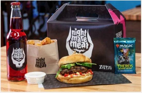Fast food de Seattle cria lanche com tema de Magic com booster de brinde