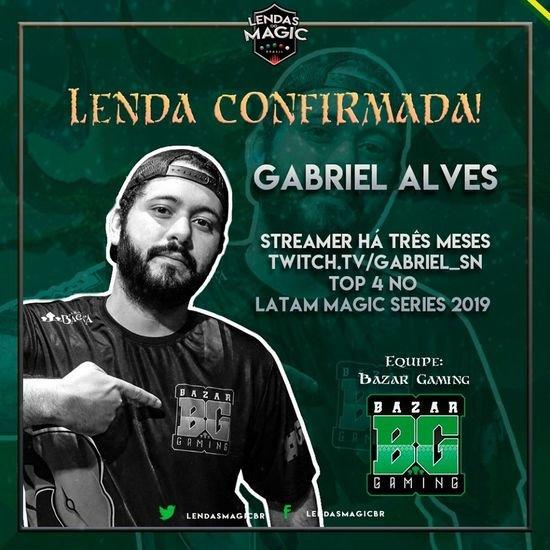 Entrevistando Gabriel Alves, jogador da Bazar e último campeão do Lendas