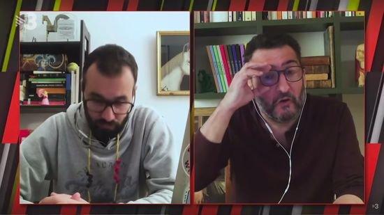 Spanish journalist has been broadcasting wearing Magic shirts during quarantine