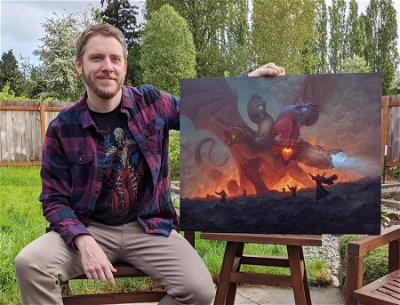Tiamat card art, from Forgotten Realms, worth more than $43,000 at auction