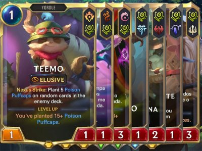 How do the Multi-region cards work in Legends of Runeterra