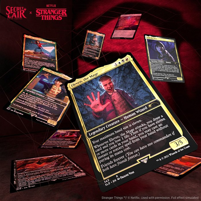 Cards de Secret Lair: Stranger Things serão válidos no Commander